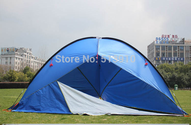 3Walls!Awning tent ultralarge sun-shading tentorial beach tent/anti-uv marquee account/large flysheet