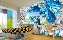 Buy Mural 3d wallpaper Children's cartoon eagle wings Photo wallpaper custom wallpaper TV setting wall sitting room sofa for $19.08 in AliExpress store