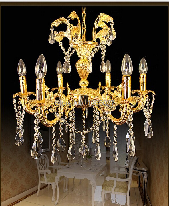 Maufature Royal Empire Golden Crystal chandelier Light French Crystal Ceiling Pendant Lights D650mm X H550mm<br><br>Aliexpress