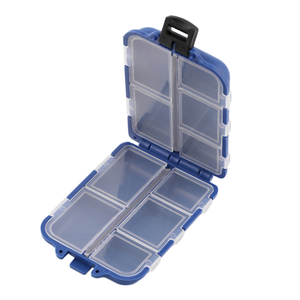 New  10 Compartments Storage Case Fly Fishing Lure Spoon Hook Bait Tackle Case Box Fishing Accessories Tools Wholesale<br><br>Aliexpress