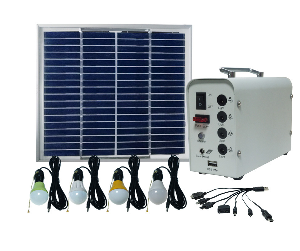 solar home kit ,solar indoor light,solar lamp for 4pcs LED and 7 in 1 mobile charger,with handle(China (Mainland))