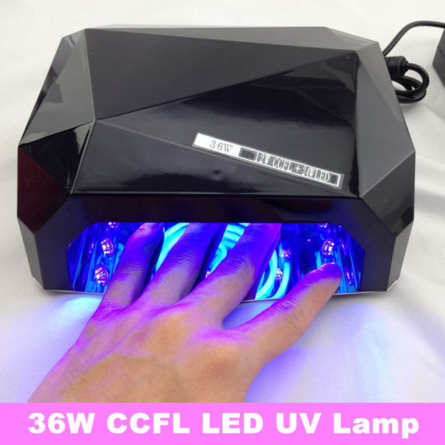 2013 New Long Life Diamond CCFL LED UV Lamp 36W Nail UV LED Nail Lamp + Free Shipping