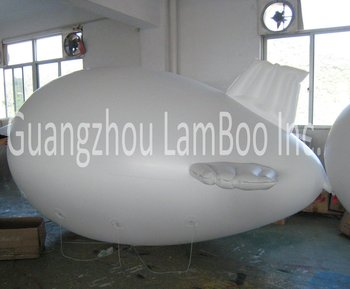 FREE SHIPPING 4m(13ft) White Inflatable Zeppelin/ Blimp/Airship for Advertisement Different color for your selection/No Logos.