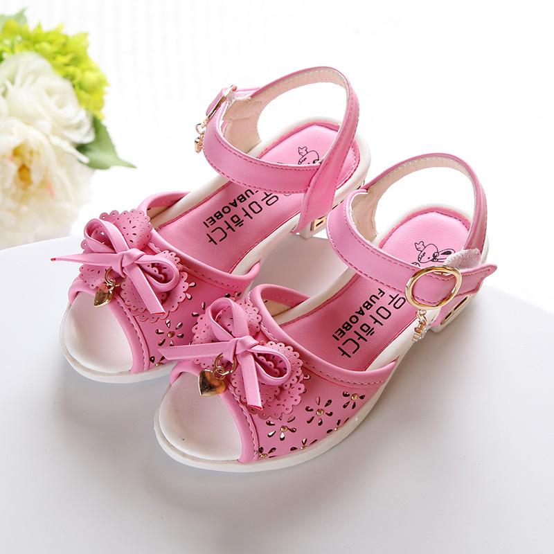 kids sandals Children s fashion sandals summer hollow out bowknot princess sandals cuhk children s font