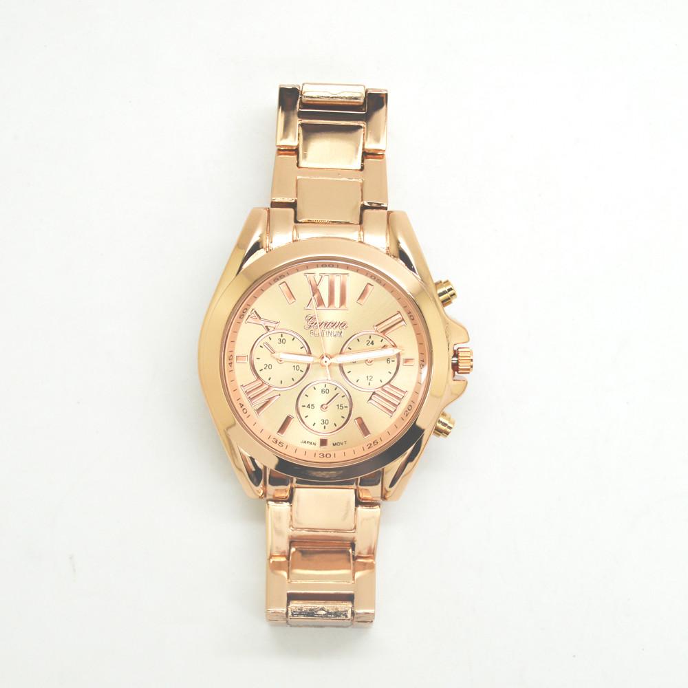 Hot Luxury Geneva Fashion Men Women Ladies Watches Gold Roman Numerals Analog Quartz Wrist Watch Boyfriend Watches