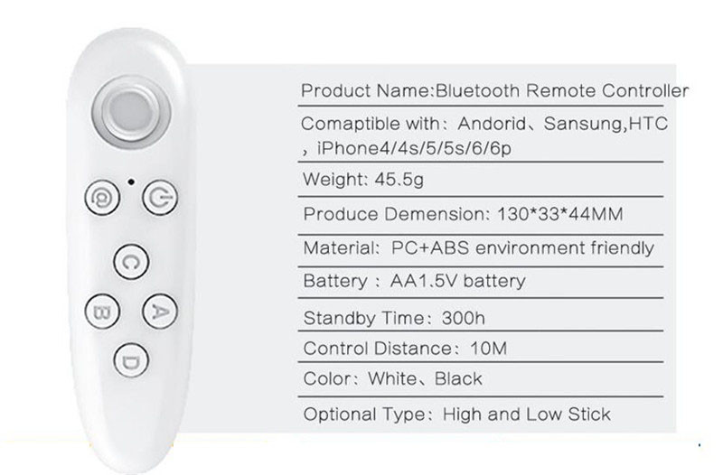 image for Wireless Bluetooth Gamepad For Android Vr Remote Controller For Iphone