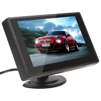 4.3 дюймов мини TFT LCD 2 канала видеовхода автостоянка вида монитор монитор для заднего камера заднего вида dvd-vcd