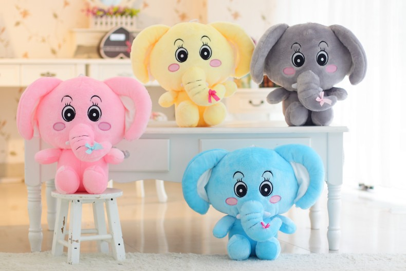 30cm new factory direct elephant plush toy doll gift recruit agents kids favor toys, cute plush dolls, Kids Birtrhday Gift(China (Mainland))