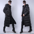 2016 Men s new winter plus size knee length down jacket thicken warm down jacket casual