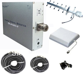 Whole set,300~500sqm 50dB DCS/GSM 1800 mobile Booster/Repeater/Amplifier/Enhancer TE-9102C-D+Yagi+Penal Antenna+two Cables