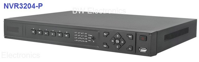 Wholesale 4 Channel Network Video Recorder With POE, 4ch NVR@HD 1080P NVR3204-P, Support Many Brands IP camera