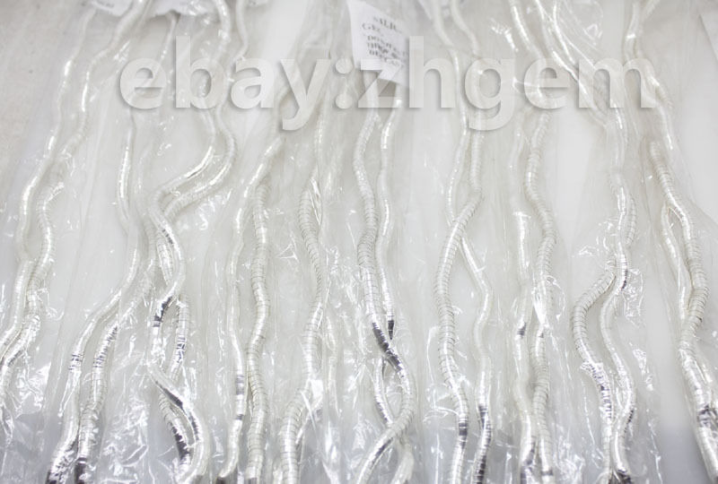 sale! wholesale 6pcs Silvery white alloy bendy flexible mixed snake necklace br(China (Mainland))