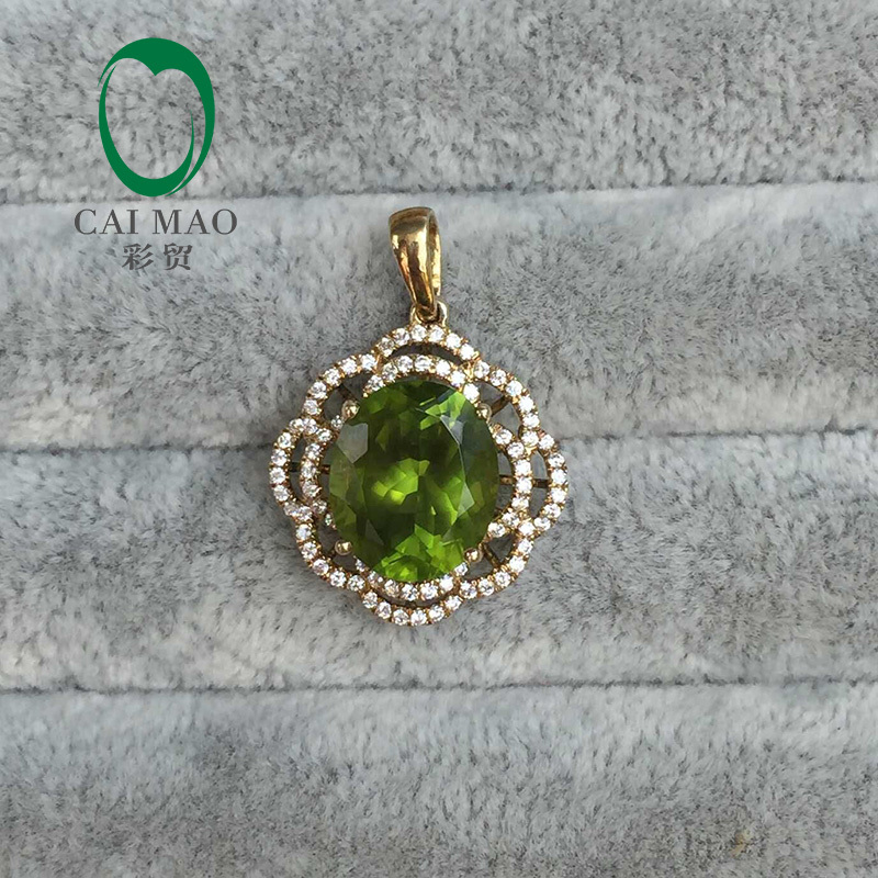 New Arrivals Oval Cut 10x12mm Peridot Charms for Party &amp; Engagement<br>