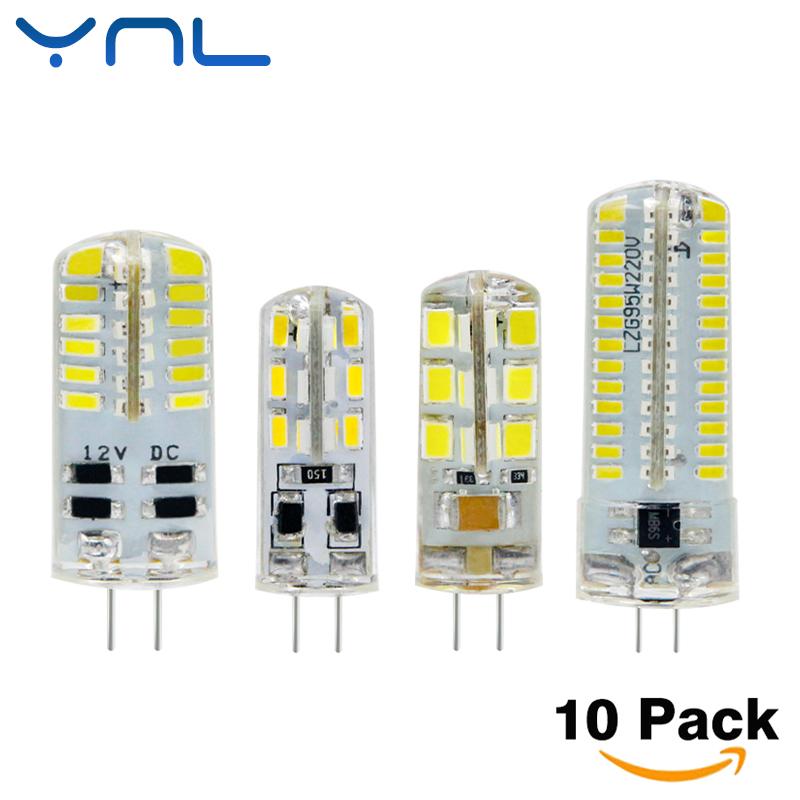 YNL 10pcs G4 LED Bulb Lamp High Power 3W SMD2835 3014 DC 12V AC 220V White/Warm White Light replace Halogen Spotlight Chandelier(China (Mainland))