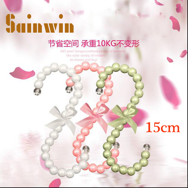 Sainwin 5pcs/lot plastic pearl bag hanger 15CM Fashion women clips White Pink S-shaped bag hook clothes rack 10 color(China (Mainland))