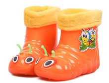 Children spring autumn warm boys girls baby kids caterpillar candy plus cotton rain boots waterproof shoes