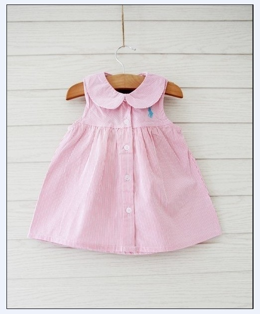 Retail baby girl dress summer 2014 brand polo casual dresses cotton kids clothes children's wear princess clothing new arrivals(China (Mainland))