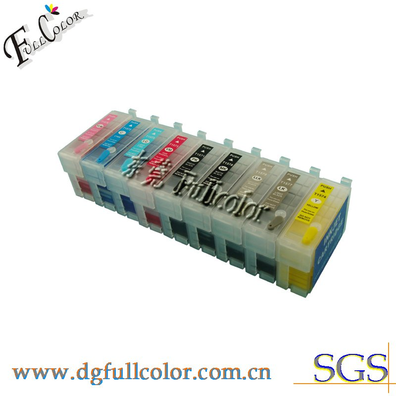 Фотография Free shipping  new printer T157 cartridge refill pigment ink for R3000 ink cartridge