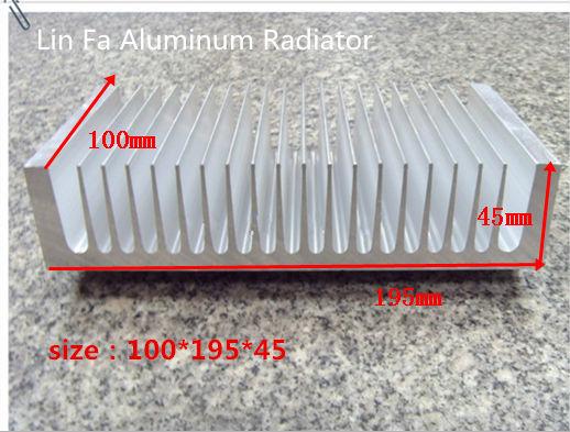 Heatsink/Aluminum radiator/Aluminum/ High power aluminum radiator-fan amplifier led pure aluminum heat sink 100(l)*195( w)*45(H)