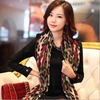 2016 Новый стиль женщины сексуальная браун леопард вино красный персик сердца шарфы завышение 180 * 90 см