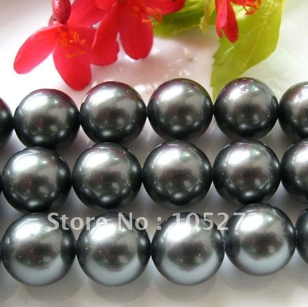 Charming! Loose Beads 16mm black Mother-of-pearl Strand 16inch (40cm) For Making bracelet necklace jewelry New Free Shipping<br><br>Aliexpress