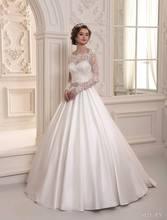 2016 Designer Long Sleeves Wedding Dresses Bridal Gowns Vestidos De Novia(China (Mainland))