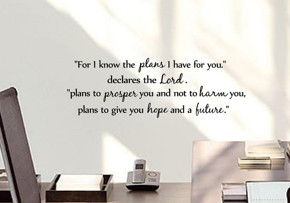 For I Know The Plans I Have For You Wall Sticker Words