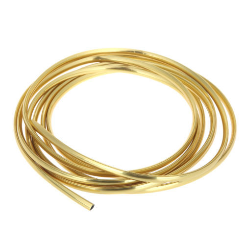 New 3m X 6mm U Shape car air vent grille switch rim moulding trim strip chrome Gold door eedge protector(China (Mainland))