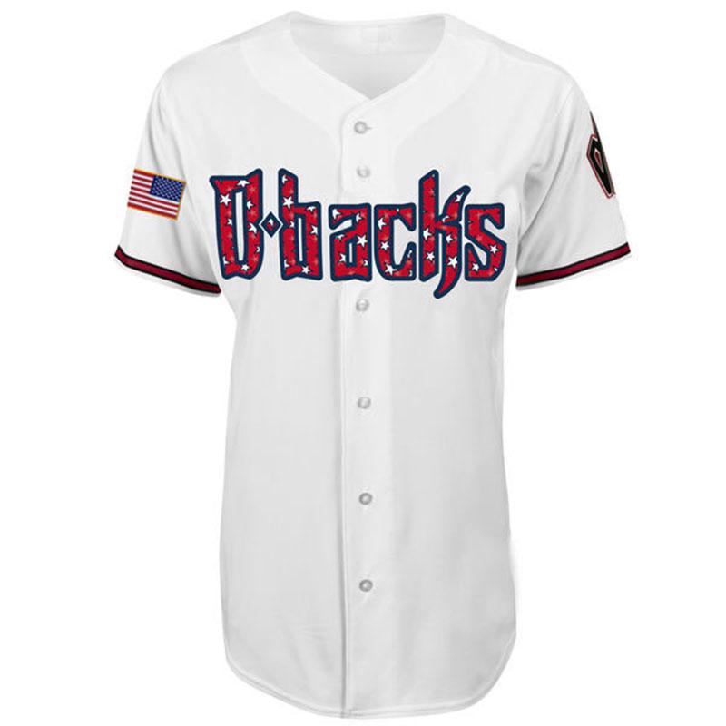 Arizona Diamondbacks 2016 New Style Men's Baseball Throwback Stars Embroidery Logo Baseball Jersey Custom any name any number(China (Mainland))