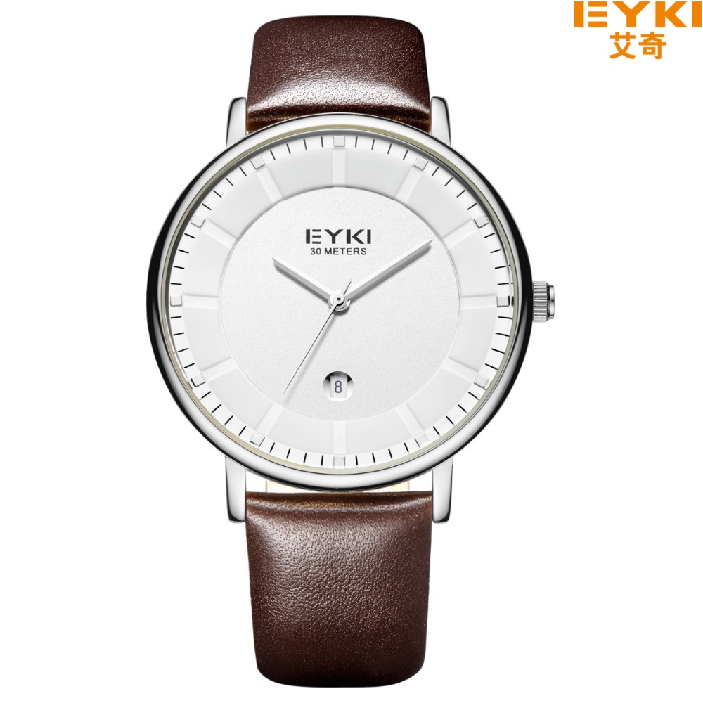 Brand EYKI 30M Waterproof COOL Leather Strap Business Watches Fashion Designed Watches With Calendar Quartz Watch1029<br><br>Aliexpress