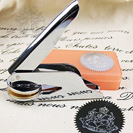 Personalizzato timbro a secco acquista a poco prezzo for Design personalizzato