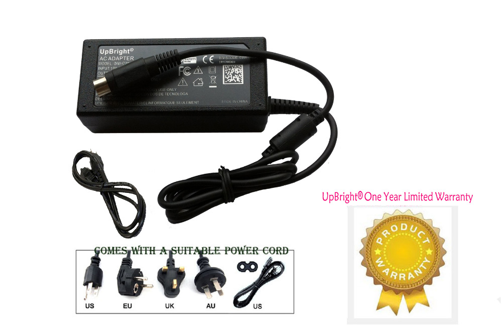 UpBright New 12V 4-Pin AC / DC Adapter For Sanyo CLT1554 CLT1554D LCD TV Monitor Power Supply Cord PSU (with 4-Pin Connector)(China (Mainland))