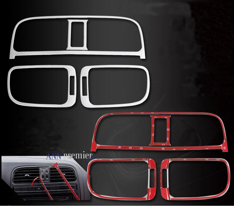 Автомобиль интерьер воздушный выход украшение отделка 4 шт комплект , пригодный для vw volkswagen polo автомобиль для укладки