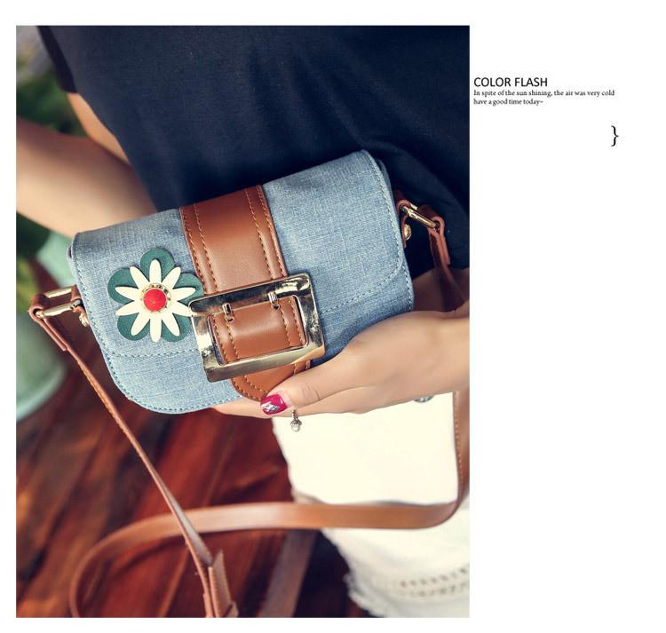 ซื้อ 2016ที่มีชื่อเสียงยี่ห้อออกแบบมินิกระเป๋าสะพายสีฟ้าที่มีคุณภาพสูงฌองC Rossbodyกระเป๋าสำหรับผู้หญิงวินเทจยีนส์พนังถุงMessenger