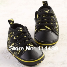 Black Baby Boy  Crib Shoes Infant Toddler Sneaker  #co08#(China (Mainland))