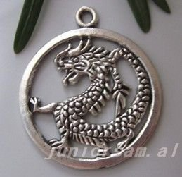 Tibetan Silver Dragon charms Pendant(China (Mainland))