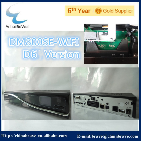 satellite reciever D6 Version dm800 hd se wifi with 2.10 card(China (Mainland))