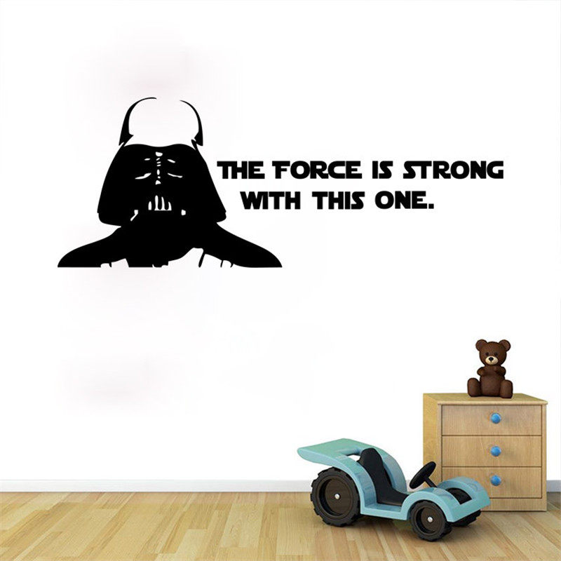Vintage Star Wars wall sticker Retro art Wall home Decoration 42CM*32CM Movie Wall Stickers For Kids Rooms Decoration Decal(China (Mainland))