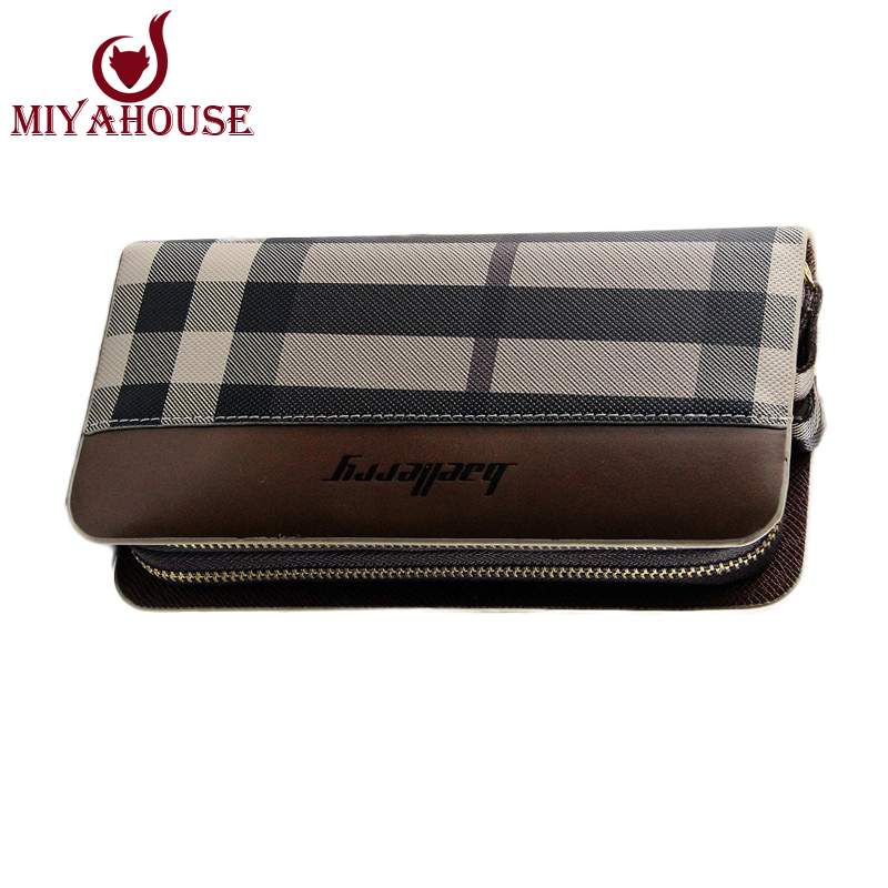Euopean Style Men Long Wallet Fashion Striped Purses PU Leather Card Holder Wallets Classic Male Clutch Purse Carteira Masculina(China (Mainland))