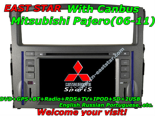 Free shipping 3G Car PC DVD player for Mitsubishi Pajero 06-11 with DVD GPS BT Radio TV RDS Ipod 2SD USB ES1841(China (Mainland))