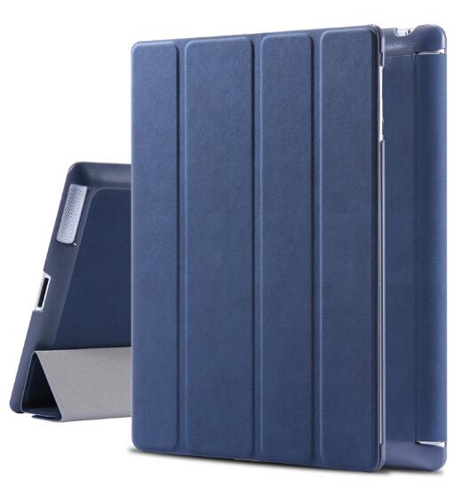 for iPad 2 3 4 Smart Case Luxury Deer Leather Cover for apple ipad2 ipad3 ipad4 Stand Folded Sleep Awake Tablets Bags Casual(China (Mainland))