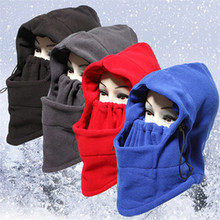 Thermal Fleece Balaclava Hat Hood Cycling Ski Windproof Dustproof Face Mask Caps Neck Warmer Winter Motorcycle Bike Helmet Women