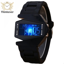 2016 Special Offer Fashion Sillicone Aircraft Led Quartz Watches Casual Watch Men Sports Clock Hours Relogio Masculino CC0052
