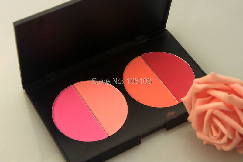 Free shipping New arrived 4 Color Face Blush makeup blusher powder Palette 4H Dropshipping!