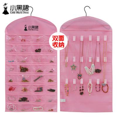 Fashion Creative Hair Accessory and Jewerly Hanging Storage Pockets Non-woven Fabric Hanging Jewelry Organizer Bag(China (Mainland))