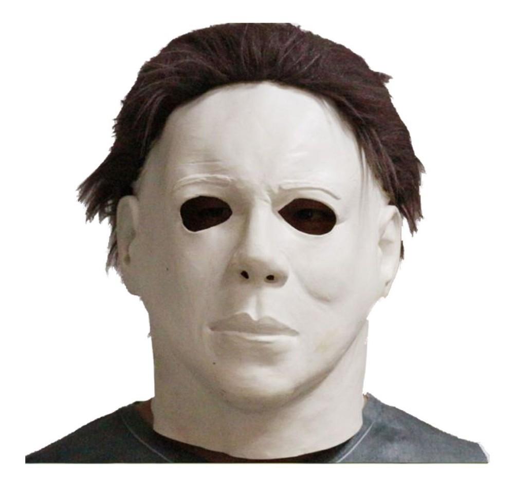 Michael Myers Estilo Filme de Terror Halloween Horror Máscara De Látex Festa Fantasia Cosplay Máscara para o Dia Das Bruxas Máscara Dos Desenhos Animados(China (Mainland))