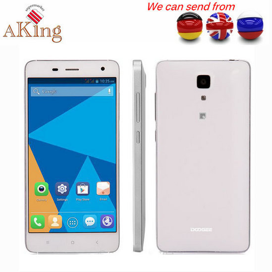 """From UK or Germany or CHINA Cell Phone Original Doogee DG850 MTK6582 Quad Core 5.0"""" HD IPS 1GB RAM 16GB ROM 13+8MP Cell Phone(China (Mainland))"""