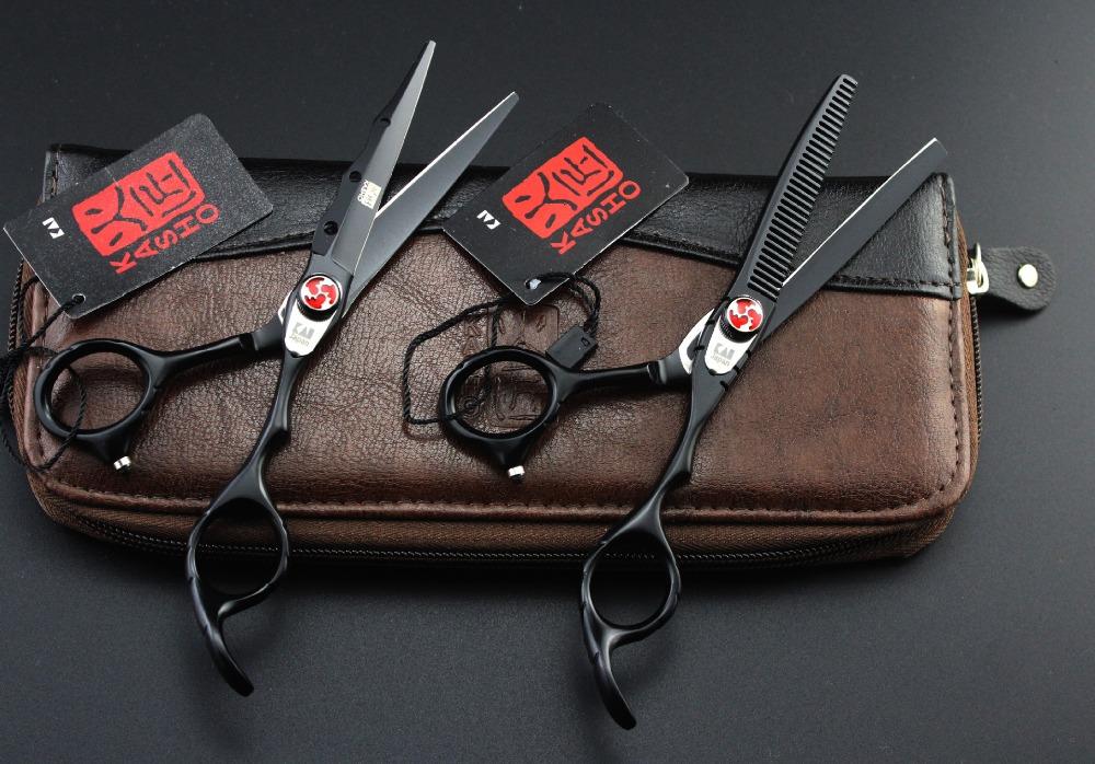 HTB1hWQkPVXXXXaYXFXXq6xXFXXXX - 2017 New KASHO Profissional Hairdressing Scissors Hair Cutting Scissors Set Barber Shears High Quality Salon 6.0inch