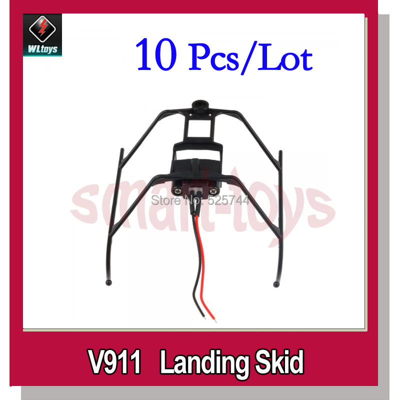 10pcs WLtoys V911-08 Landing Skid for V911 V911-1 V911-pro Helicopter V911 parts(China (Mainland))
