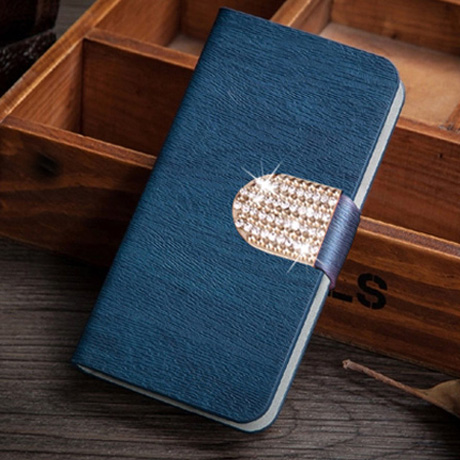 Creative Diamond button phone cover back cases flip leather tfor htc desire hd g10 a9191 case(China (Mainland))